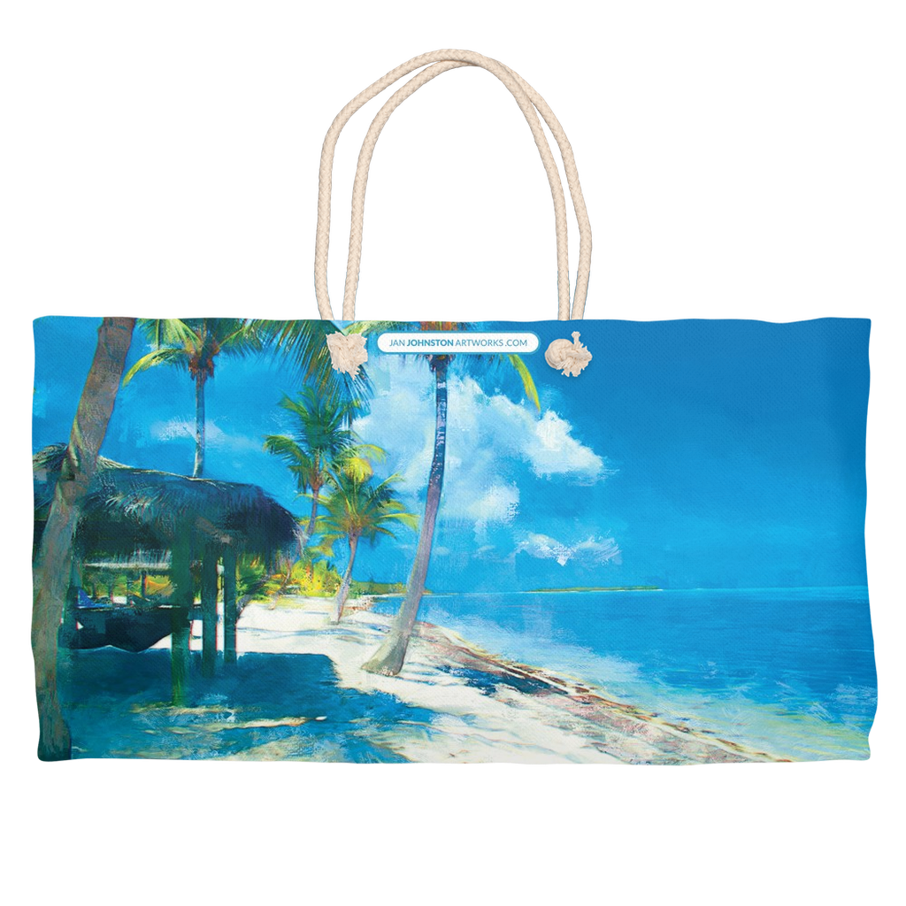 Little Cayman Beach View Weekender Rope Tote