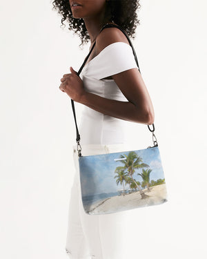 Looking Up Brac Beach - Handbag Daily Zip Pouch