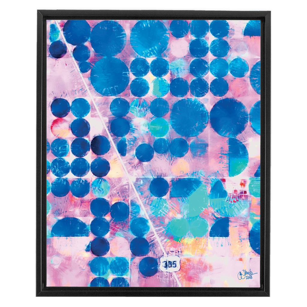 Blue Terra Firma Framed Canvas Wraps