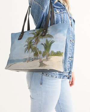 Looking Up Brac Beach - Handbag Stylish Tote