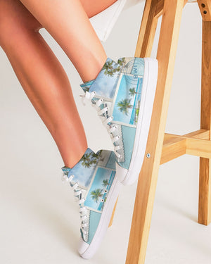 Photos from the Islands - Women's Hightop Canvas Shoe
