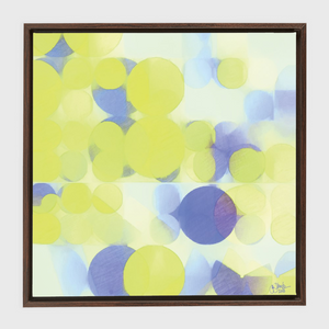 Lemon Purple Circles Framed Canvas Wraps