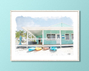 Cayman Brac Dive Shop Print
