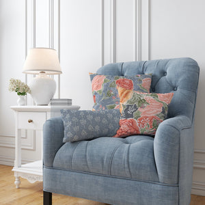 Peony Watercolor Pillow Collection