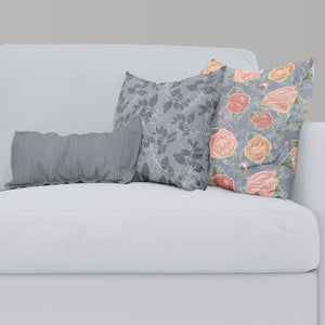 Example combination with Blue Leaves Throw Pillow