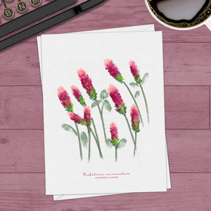 Crimson Clover Note Cards