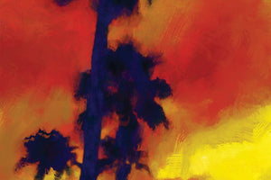 East Texas Palms at Sunset Print Detail