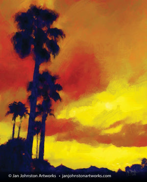 East Texas Palms at Sunset Print