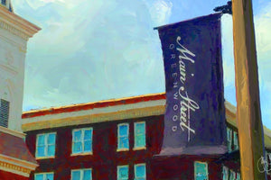 Downtown Greenwood, Mississippi Print Detail
