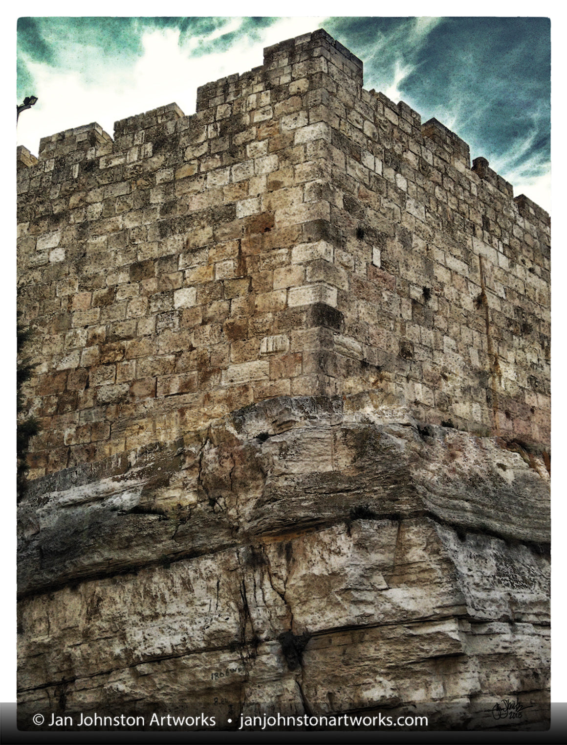 Bedrock of the Wall of Jerusalem