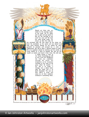 Bride of Christ Ketubah Print