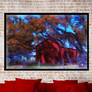 LBJ Ranch Red Barn Print