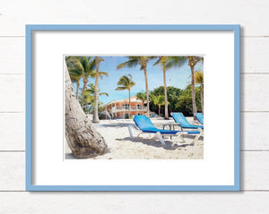 Little Cayman Beach Chairs Print