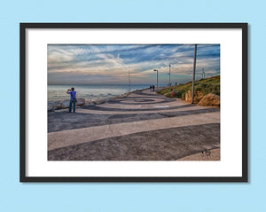 Promenade on the Beach in Tel Aviv, Israel Print