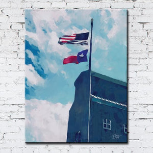 Texas Flag Blue Sky