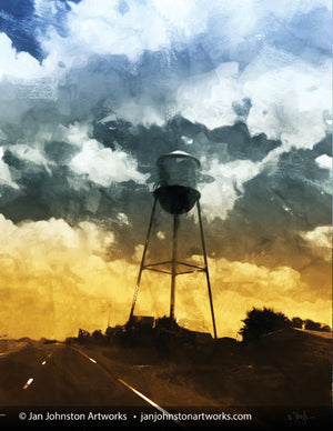 Texas Water Tower Print