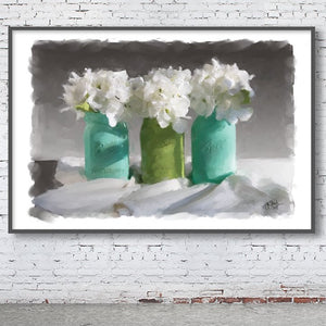 Three Hydrangeas Print