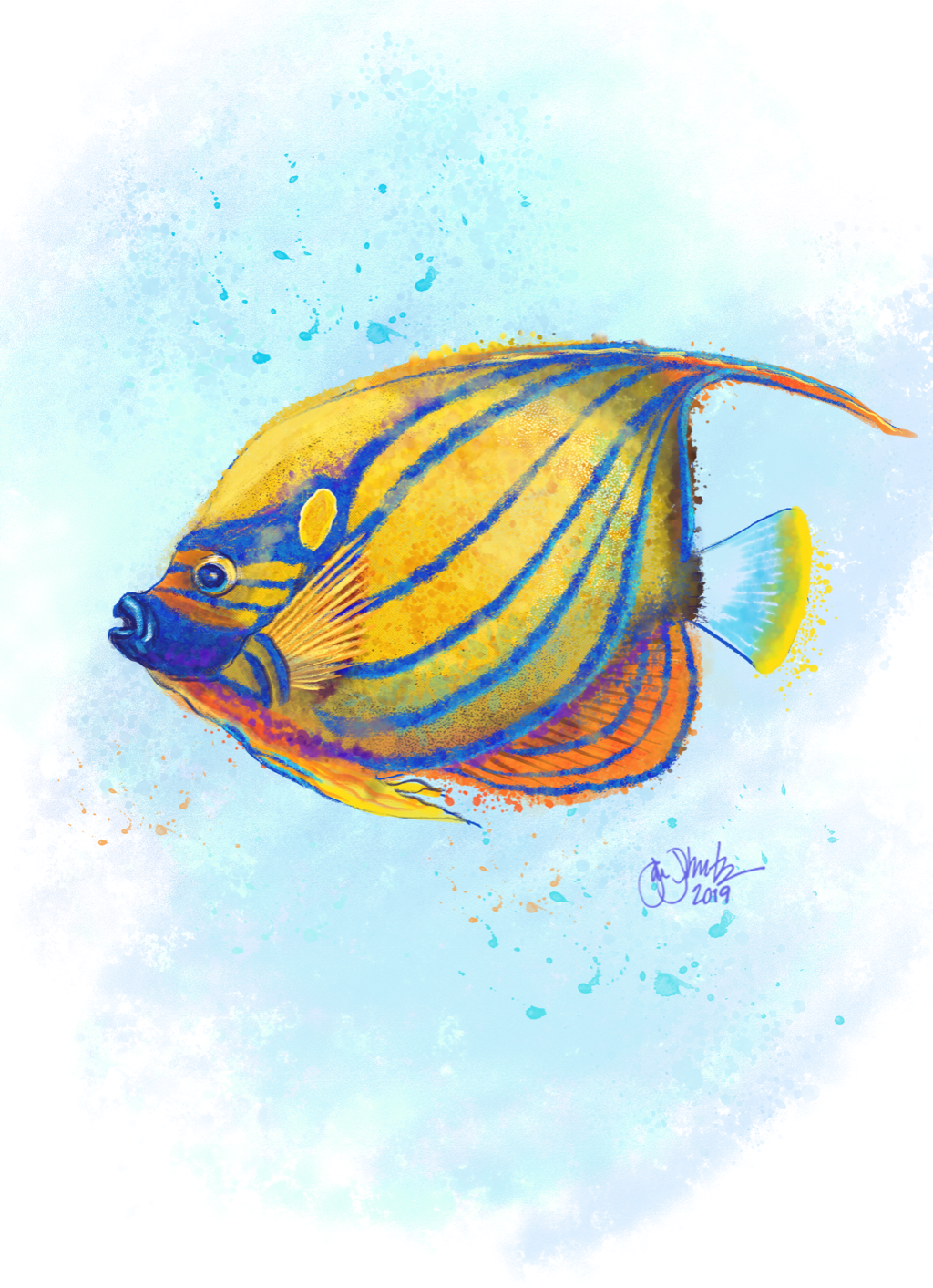 Tropical Fish Watercolor 2 - New