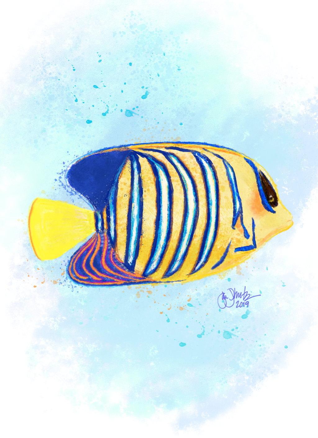 Tropical Fish Watercolor 3 - New