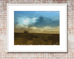 West Texas Field & Sky Print