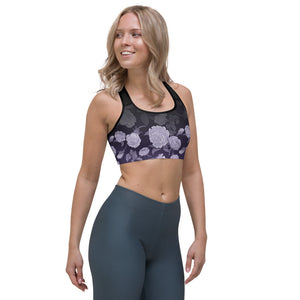 Purple Rose Black Ombre Sports bra