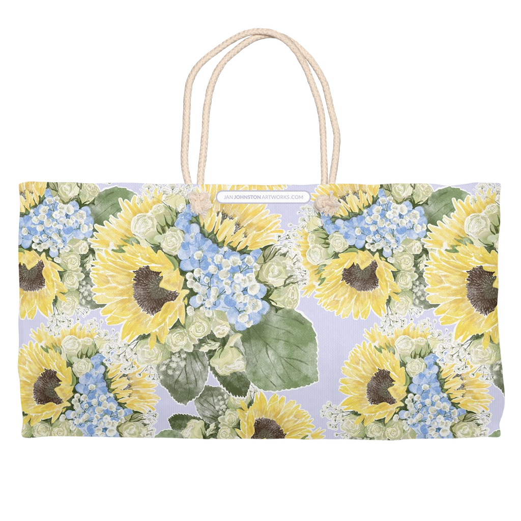 Jo's Bouquet Watercolor Weekender Totes