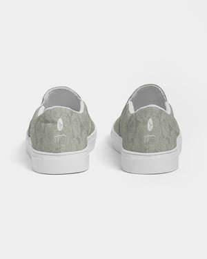 Sage Bunched Floral Line Slip On - Canvas Shoes