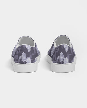 Peony & Rose Mono Purple Slip On Canvas Shoe