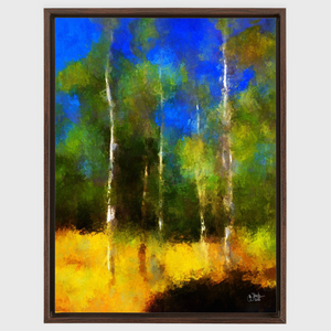 Bright August Aspens Framed Canvas Wraps