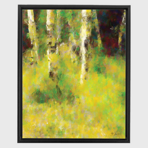 Aspens of Poudre Canyon Framed Canvas Wraps
