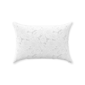 Light Grey Floral Lines Throw Pillow 14x20