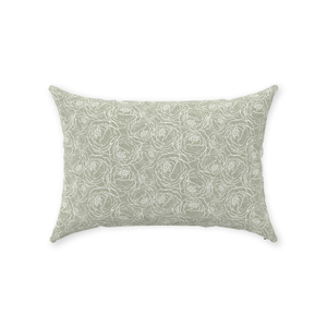 Sage Peony Line Throw Pillows 14x20