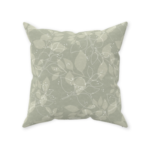 Sage Leaves Throw Pillows