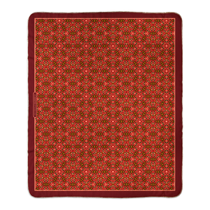 Red Rosette Fleece Sherpa Blanket