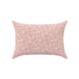 Pink Peony Line Throw Pillows 14x20