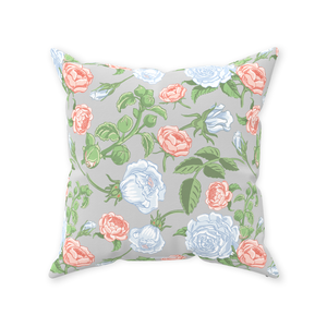 Rose Original on White Throw Pillow