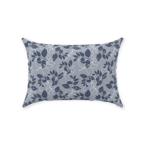 Blue Leaves Throw Pillow 14x20