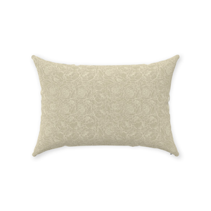 Sand Floral Lines Throw Pillows 14x20