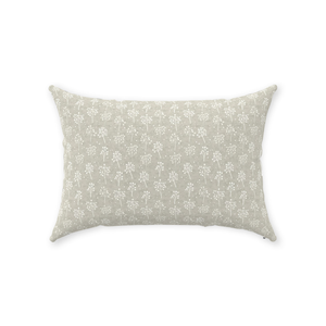Sand Baby's Breath Throw Pillow 14x20 back
