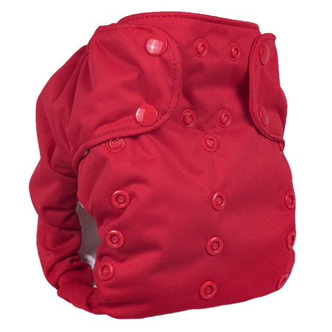 Smart Bottoms Dream Diaper 2.0 All in One with Pocket cloth diaper Basic Red Crimson