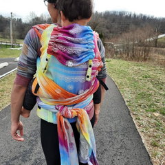 Full panel back carry Rainbow Lace Silver Lenny Hybrid - Toddler size tester