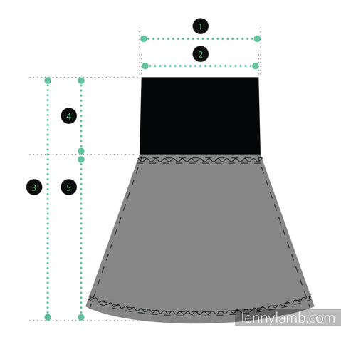 Lenny Skirt size diagram