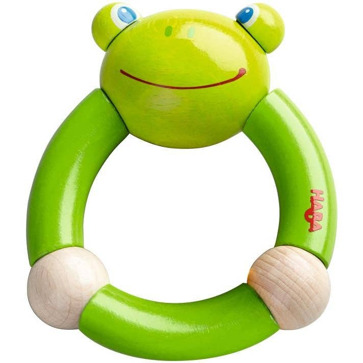 Haba wooden Croaking Frog Clutching toy. Made in Germany