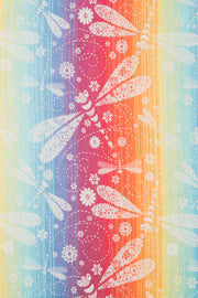 Long Woven Wrap, Dragonfly Rainbow Light