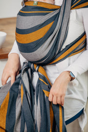 Long Woven Wrap, Smoky Honey