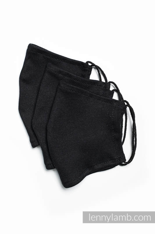 Cloth Face Masks - Set of 3 - Black