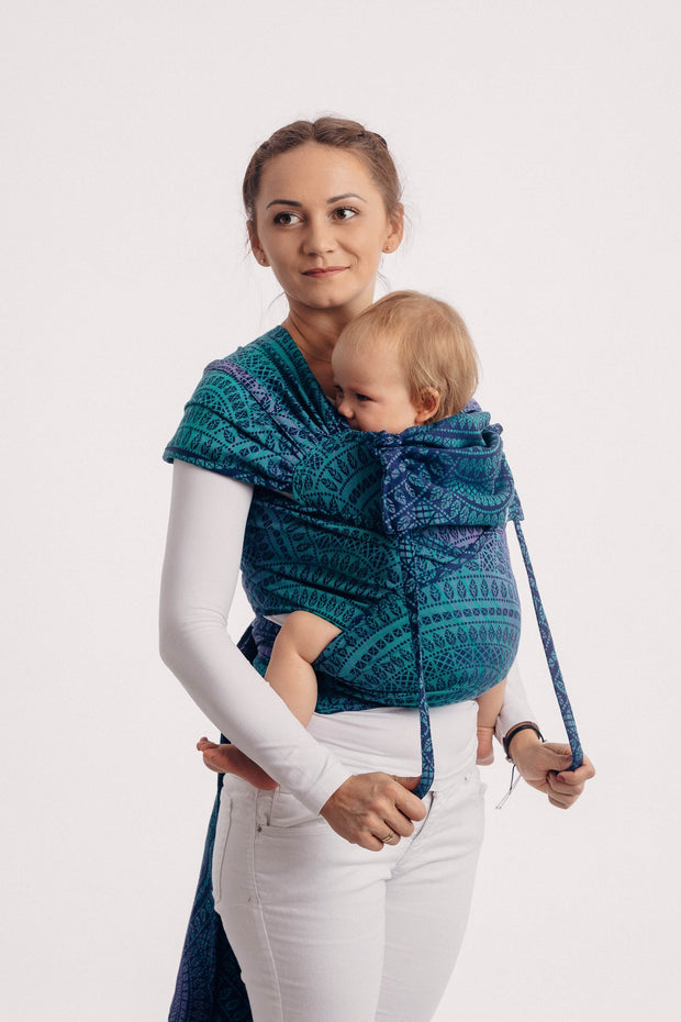 Lenny Lamb Toddler Wrap Tai Peacock Tail Provance
