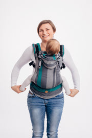 LennyGo Ergonomic Carrier, Smoky - Mint