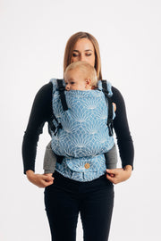 Lenny Lamb Lotus - Blue linen baby carrier Lenny Upgrade SSC