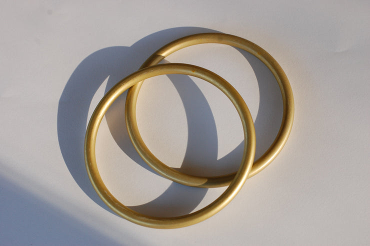 Large Gold Sling rings